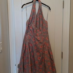 Boden cherry blossoms halter dress